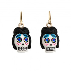 Calaveras Elvis skull earrings