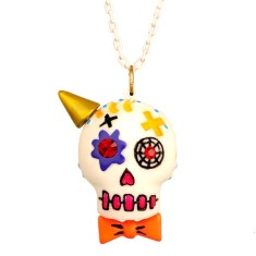 Calaveras necklace - Clown skull