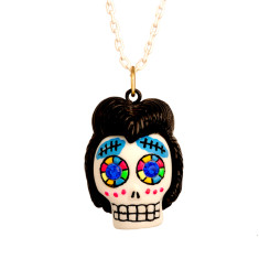 Calaveras necklace - Elvis skull