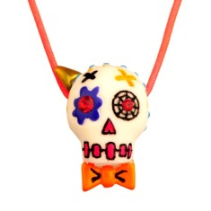 Calaveras small necklace - Clown skull
