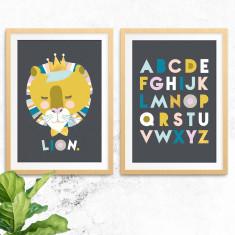 Lenni Lion & Alphabet Prints (2 Pack)