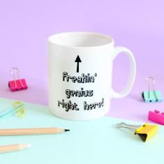 Freakin' Genius, Personalised Mug