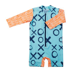 Baby sunsuit for girls in Love XOXO Popsicle