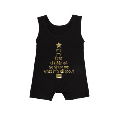 It's my first Christmas so show me what it's all about tank onesie