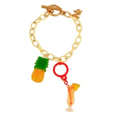 Pineapple and cocktail bracelet