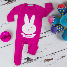 Personalised Easter bunny onesie