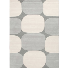 Charcoal Gray/Antique White hand tufted wool rug