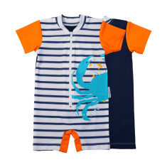 Baby sunsuit for boys in Sandcrabs Popsicle