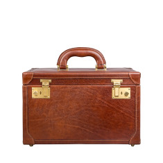 Personalised The Bellino Luxury Leather Vanity Case