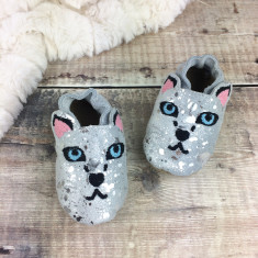 Personalised Snow Leopard Baby Shoes