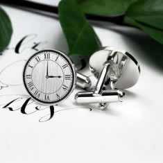 Wedding Hour - Clock Cufflinks in Sterling Silver