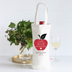 An apple a day personalised wine bag