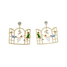Peter Pan and the Children Flying to Neverland Earrings