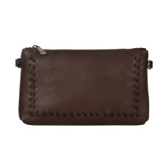 Zoe Choc Clutch Bag