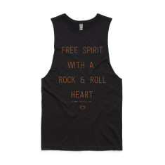 Rock & Roll Heart Unisex Tank - Organic Cotton & Bamboo