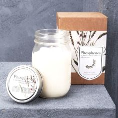 Phosphenes Hand-poured Soy Wax Candle in Large Mason Jar