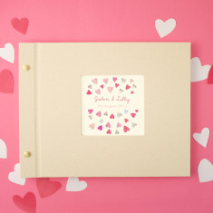 Personalised love hearts photo album