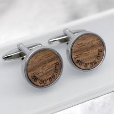 Walnut Wood Coordinate Cufflinks
