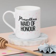 Personalised Maid Of Honour Wedding Mug