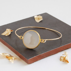 Gold Moonstone Bangle