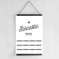 Wall Calendar 2017 - Funny Quote Calendar