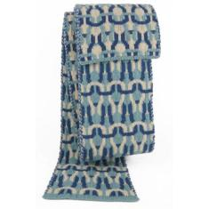 Top stitch wool scarf