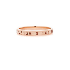 Theodora personalised 9ct yellow, rose or white gold ring