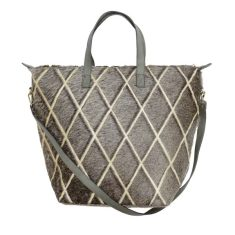 Luna Tote in Arlequin Grey Gold