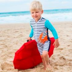 Baby sunsuit for boys in Sandcrabs Aquamarine