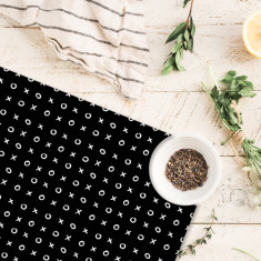 Black & Peach mixed placemats (set of 4 or 6)