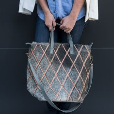 Luna Tote in Arlequin Grey Copper