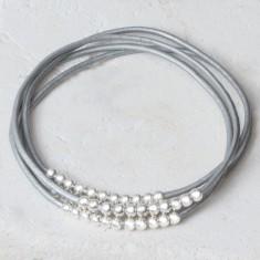 Caitlyn beaded leather bracelet