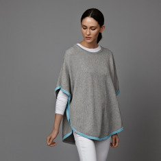 Reversible 3 colour poncho