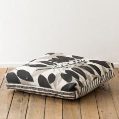 Moreton Bay Fig & Pebbles floor cushion