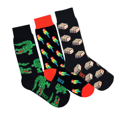 Loco black novelty socks (3 Pack)