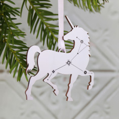 Unicorn Constellation  Christmas Tree Decoration