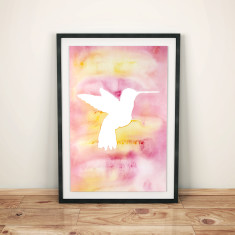 Hummingbird watercolour art print