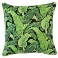 Outdoor Cushion in Banana Leaf Black (various sizes)