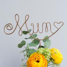 Mum Wire Cake Topper