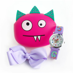 Number watch & critter purse gift set