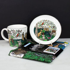 Australiana Mug, Canapé Plate and Tea Towel Gift Set