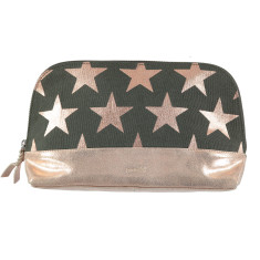 nooki design - bethany printed canvas and leather washbag