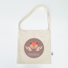 Boys' personalised library bags (various designs)