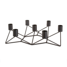 Black Geometric Candle Holder
