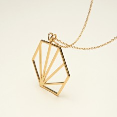 Oversized Hexagon Necklace