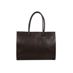 Florence chocolate leather work bag for women