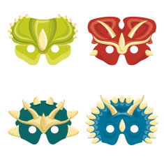 Dinosaur Mask Kit Double Sided Colouring In Masks