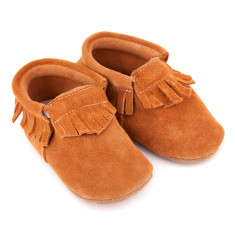 Pre-Walker Moccasins in Tan