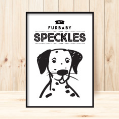 Personalised pet portrait art print