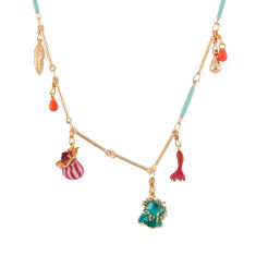 Anemones, Branch of Coral, Crab's Pincer And Charms Necklace